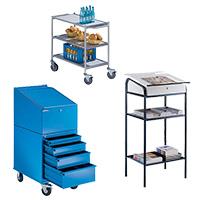 Bürowagen & Werkstatt-, Arbeitspulte