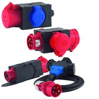Mini-Steckdosenverteiler und Adapterstecker