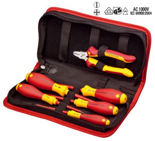 Wiha Werkzeugtasche, 6-tlg. Seitenschneider Professional electric