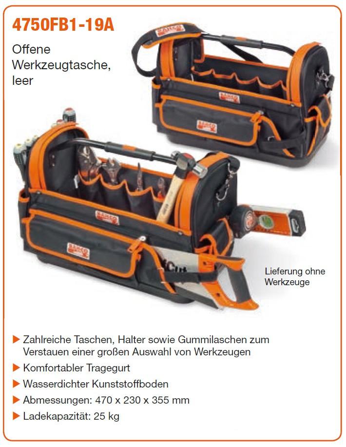 Bahco Offene Werkzeugtasche 4750FB1-19A