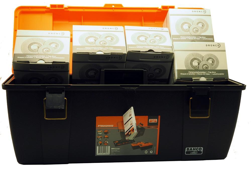 BAHCO Tool Box gefüllt mit 31 Fächerscheiben gerade