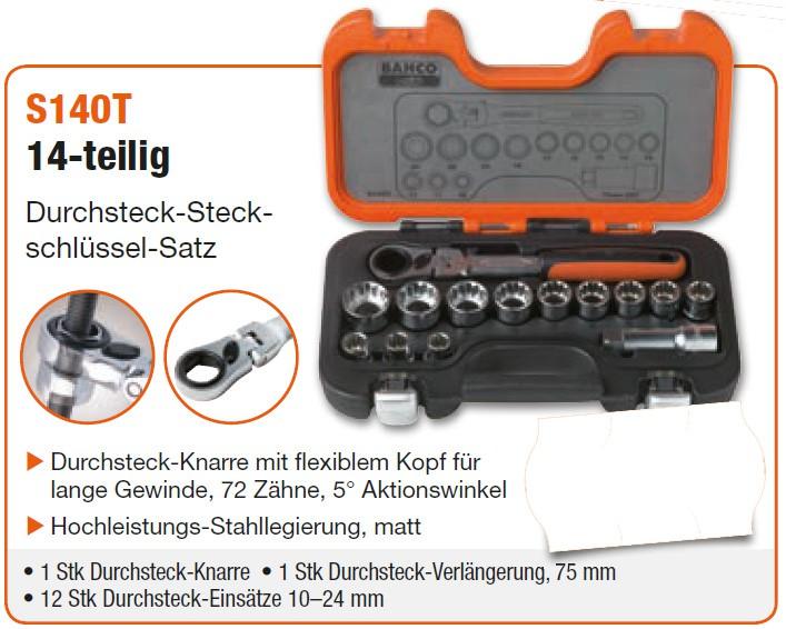 S140T Durchsteck-Steckschlüssel-Satz