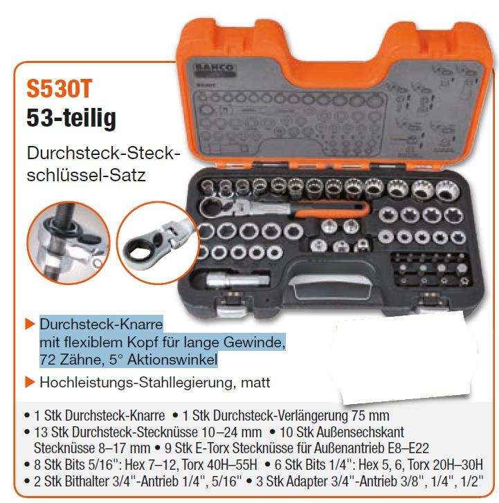 S530T Durchsteck-Steckschlüssel-Satz