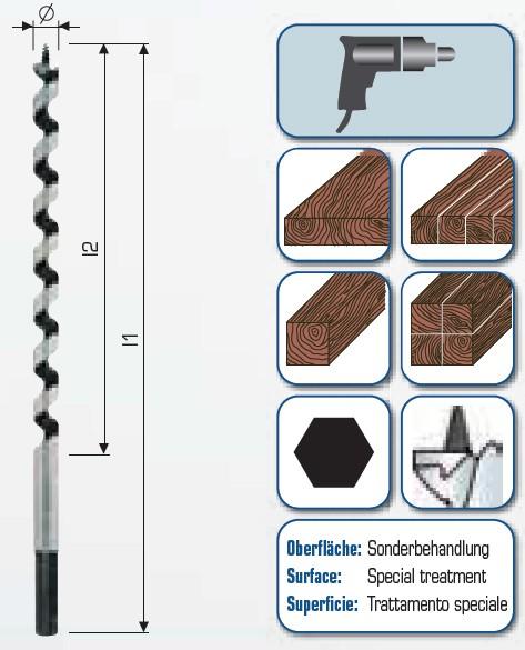 Schlangenbohrer 620/550
