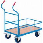 Plattformwagen mit und ohne Geländer
