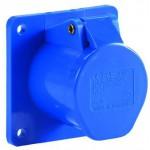 CEE-Einbausteckdose 250 V mit Klappdeckel, blau