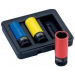 BAHCO Kraft-Steckschlüssel-Satz mit 17, 19 und 21 mm BWSS12P3