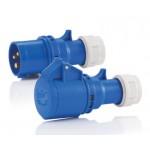 HEDI CEE-Stecker und -Kupplung,  250 V / 16 A, für Querschnitte bis 3x2,5 mm² mit Twist-Schnellverschluss