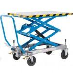Doppelscheren- Hubtischwagen Tragfähigkeit 500 kg Vollgummireifen