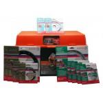 BAHCO Baustellenbox gefüllt mit 11 Diamant-Trennscheiben