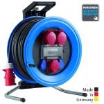 Drehstrom-Kabeltrommeln Professional Plus 450 Kunststoff, Neopren-Gummi-Leitung Eingang CEE 5x32 A - Ausgang 2x CEE 5x32 A, 1x CEE 5x16 A, 2x Schuko 250 V