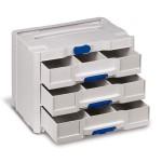 SYS-Sort IV / 3 mit 3 Schubladen, je Schublade inkl. 2 Trennstege lichtgrau
