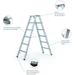 Beidseitig begehbare Stehleitern sicher und flexibel.