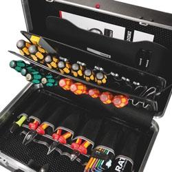 CLASSIC Werkzeugkoffer mit genähte Einsteckfächer