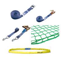 Ladungssicherung Zurrgurte und Abdecknetze