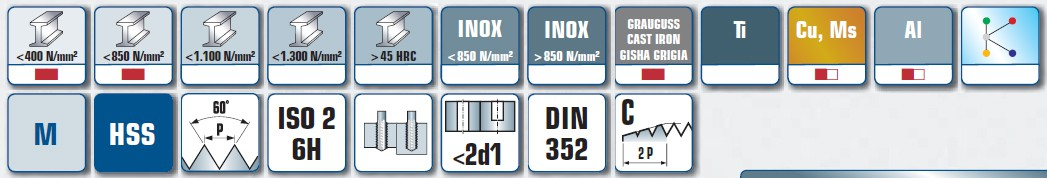 Sourcing Map Maschinengewindebohrer 3//8-24 UNF Gewinde 3 gerade Nuten H2 HSS 2 St/ück