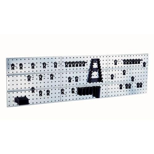Werkzeug-Wandpaneel 3 x und 44 Clips