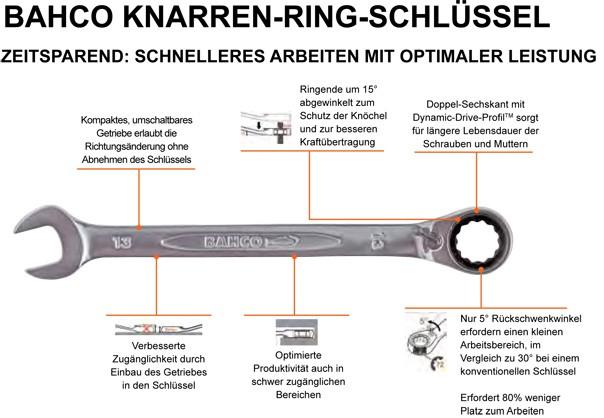 BAHCO Knarren-Ring-Maulschlüssel 1RM
