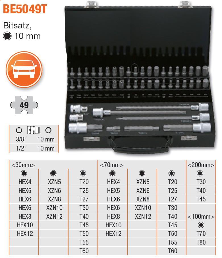 BAHCO Bitsatz, TORX®, 49-teilig BE5049T