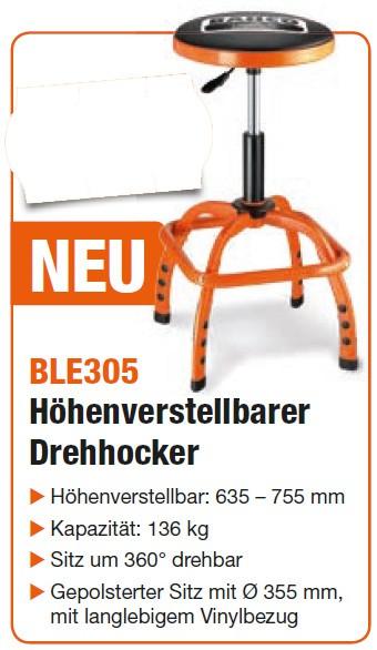 BLE305 Höhenverstellbarer Drehhocker