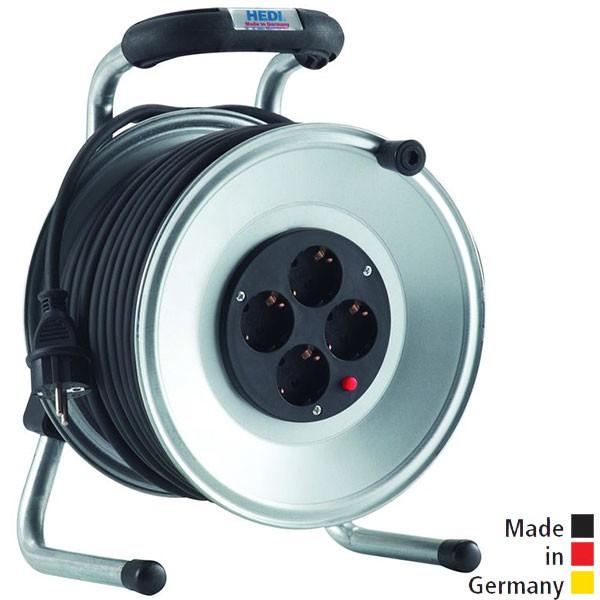 HEDI Kabeltrommel Primus Stahlblech, PVC-Leitung 50 m H05VV-F 3G1,5