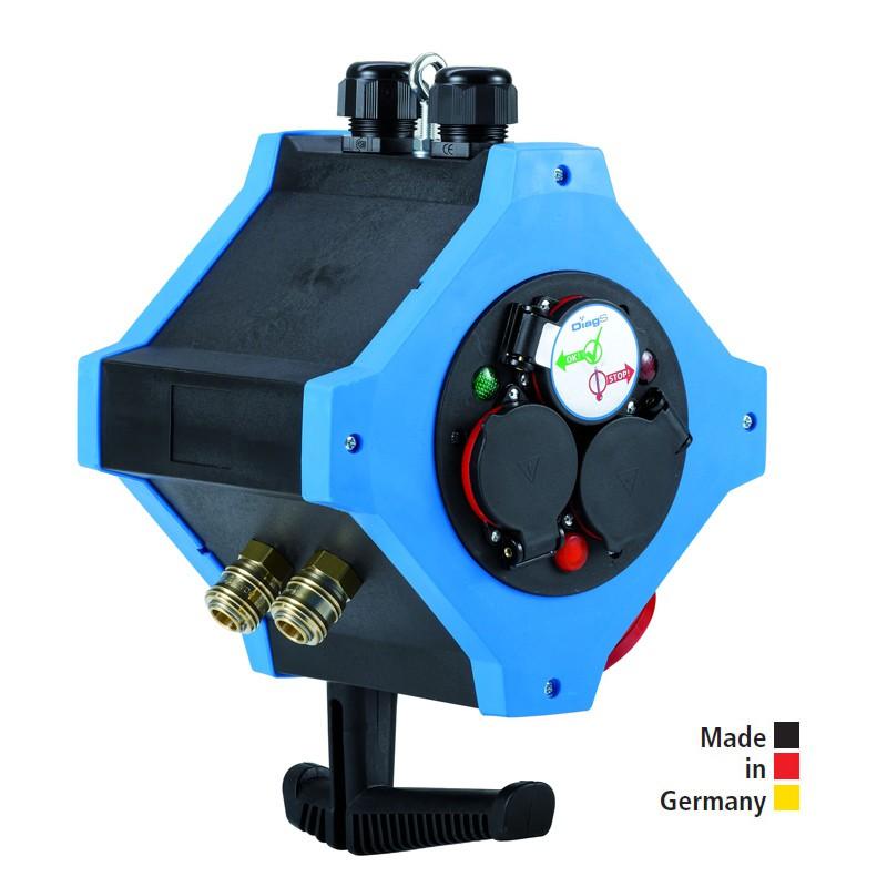 Energie-Hängeverteiler e.STATION - Kombi-Ausführungen Energie / Druckluft, 3,5 kW
