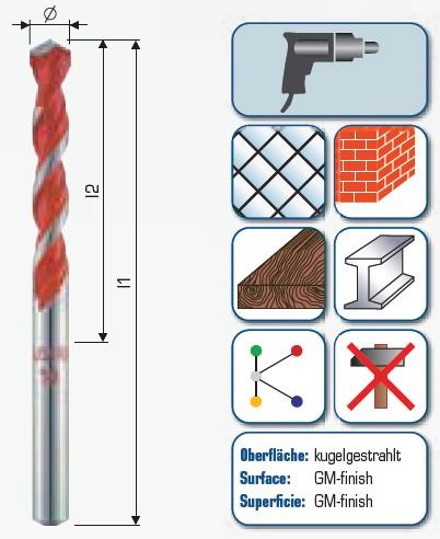 Profi Multicut mit Zylindrischem Schaft kurz