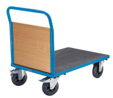 PLATTFORMWAGEN Mit Holzwänden 1 Stirnwand Tragfähigkeit 500 kg Bereifung:  Vollgummi