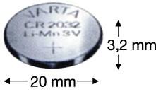 V2032 (3V) Batterie