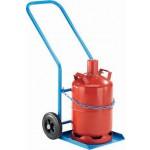 Stahlflaschenwagen, für Propangasflasche 27l und 50l