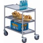 Tischwagen mit 3 Etagen und 2 Schiebegriffen