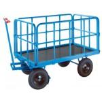Handpritschenwagen, bis 500kg, mit 4 Stahlrohrwänden