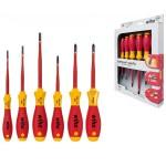 SoftFinish® electric slimFix Schlitz/ Phillips/ Pozidriv Xeno Schraubendrehersatz, 6-tlg.