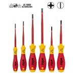 Wiha SoftFinish® electric slimFix Schlitz/ Phillips Schraubendrehersatz, 6-tlg