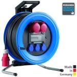 Drehstrom-Kabeltrommeln Professional Plus 450 Kunststoff, Neopren-Gummi-Leitung Eingang CEE 5x16 A - Ausgang 2x CEE 5x16 A, 3x Schuko 250 V