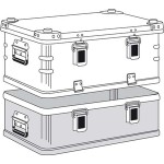 Haubenbehälter Alukiste K470 Plus Oberteil 40501