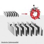 Schneidbacken Satz  für Universal-Automatik-Schneidkopf 2½ – 4