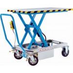 Scheren-Hubtischwagen Elektrohydraulischer Hub Tragfähigkeit 1000 kg Elastikreifen