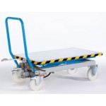 Scheren-Hubtischwagen Tragfähigkeit 500 kg Polyamid-Räder