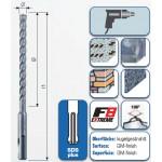 """SDS-plus Hammerbohrer """"F8"""" mit 4 Schneiden 310 mm"""