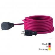Neopren-Gummi-Verlängerungsleitung, 25 m H07RN-F 3G1,5, rot